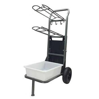 6. High-Country Plastics 2 Wheel Saddle Rack-Cart