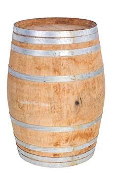 "3. MGP Oak wood Whole Wine Barrel, of size 35""H by 26""D"