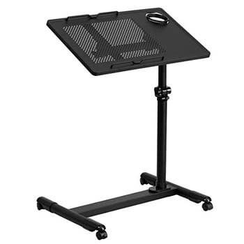 10. Flash Furniture Black Mobile Computer Desk