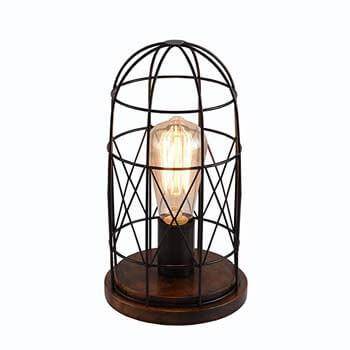 7). Surpars House Wood Retro Table Lamp