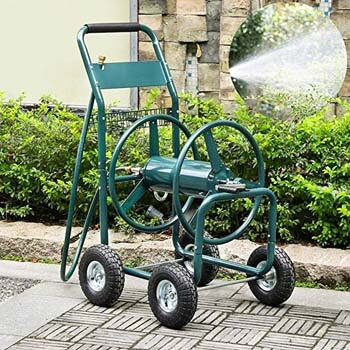 9. go2buy Heavy Duty Hose Reel For Garden