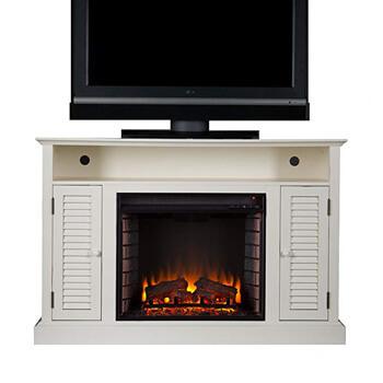 7. Southern Enterprises Antebellum Media Electric Fireplace 48