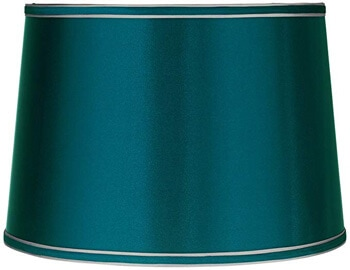 6. Brentwood Satin Teal Blue Drum Lamp Shade