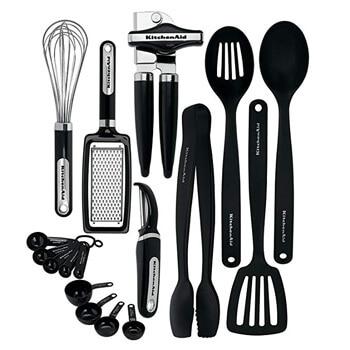 4. KitchenAid KC448BXOBA 17-Piece Tools and Gadget Set