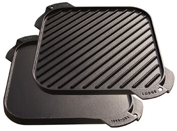 2. Lodge LSRG3 Cast Iron Single-Burner Reversible Grill