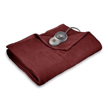 4. Sunbeam heated blanket quilted fleece