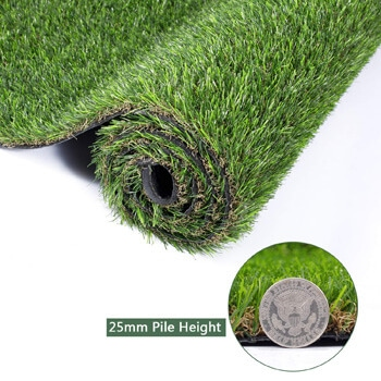 4. GOLDEN MOON Realistic Artificial Grass Mat 5-Tone Thick Outdoor Turf Rug