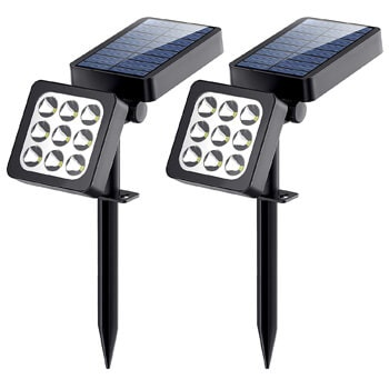 9. Aptoyu Solar Lights, 2-in-1 Waterproof Outdoor Solar Spotlight