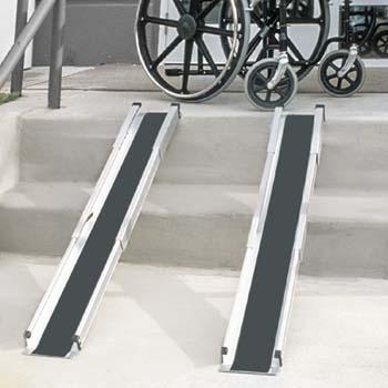 5: MABIS DMI Healthcare DMI Portable Wheelchair Ramp