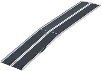 9: HOMCOM Lightweight Aluminum Portable Skid-proof PVC Carpeted Folding Wheelchair Ramp