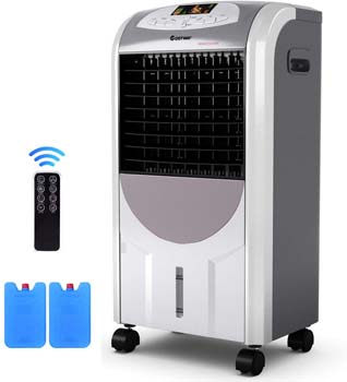 5: COSTWAY Air Cooler and Heater, Compact Portable Air Conditioner