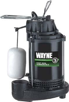 7. WAYNE CDU800 1/2 HP Submersible Cast Iron and Steel Sump Pump