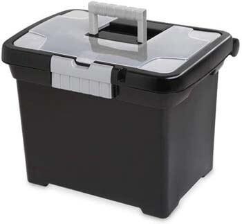 6. LavoHome Portable File Storage Organizer Box Heavy Duty Sturdy