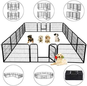 6. Topeakmart 24/32 Panels 32/40-inch Pet Dog