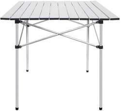 9. Deanurs Folding Tables Camping Roll Up Aluminum Portable Square Table