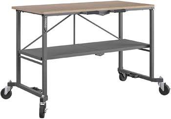 8. COSCO 66721DKG1E Folding Workbench and Table, Dark Gray