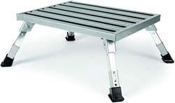 2. Camco Adjustable Height Aluminum Platform Step