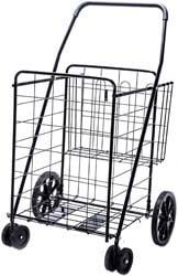 7. LS Jumbo Deluxe Folding Shopping Cart
