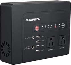3. floureon Portable Power Generator, 300W 220Wh Home Solar Generator Power Station
