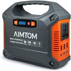 1. AIMTOM Portable Solar Generator, 42000mAh 155Wh Power Station