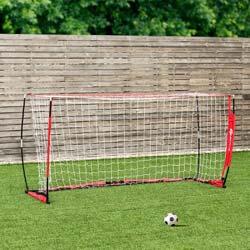 7. GOPLUS Portable Soccer Goal, Foldable Bow Style Net and Net