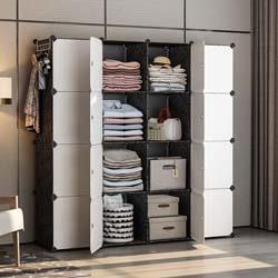8. YOZO Modular Closet Cloth Storage Organizer Portable Kids Wardrobe Chest