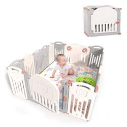 8. Kidsclub Baby 16 Panel Playpen Activity Centre Safety Play Yard