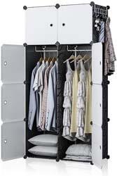6. YOZO Modular Wardrobe Closet Plastic Dresser Clothes DIY Portable Cube Storage