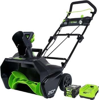 6. Greenworks 2600402 Pro 80V 20-Inch Cordless Snow Thrower