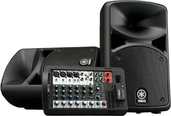 9. Yamaha Portable PA System with Bluetooth Stagepas 400BT