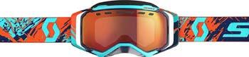 8. Scott Prospect Adult Snowmobile Goggles - Blue/Orange/Red Chrome/One Size