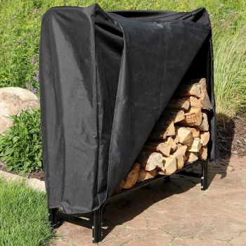 10. Sunnydaze Outdoor Firewood Rack