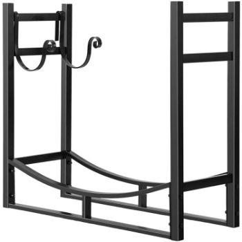 3. Vivohome outdoor indoor firewood rack