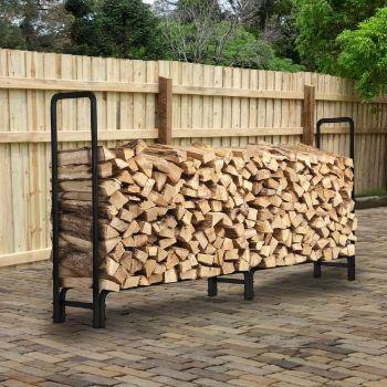 8. Kingso Outdoor Firewood Rack