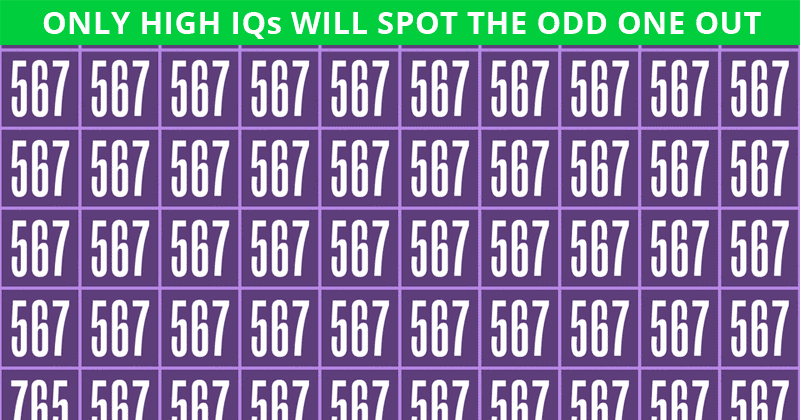 Almost No One Can Ace This Odd One Out Visual Game. Prove Us Wrong!
