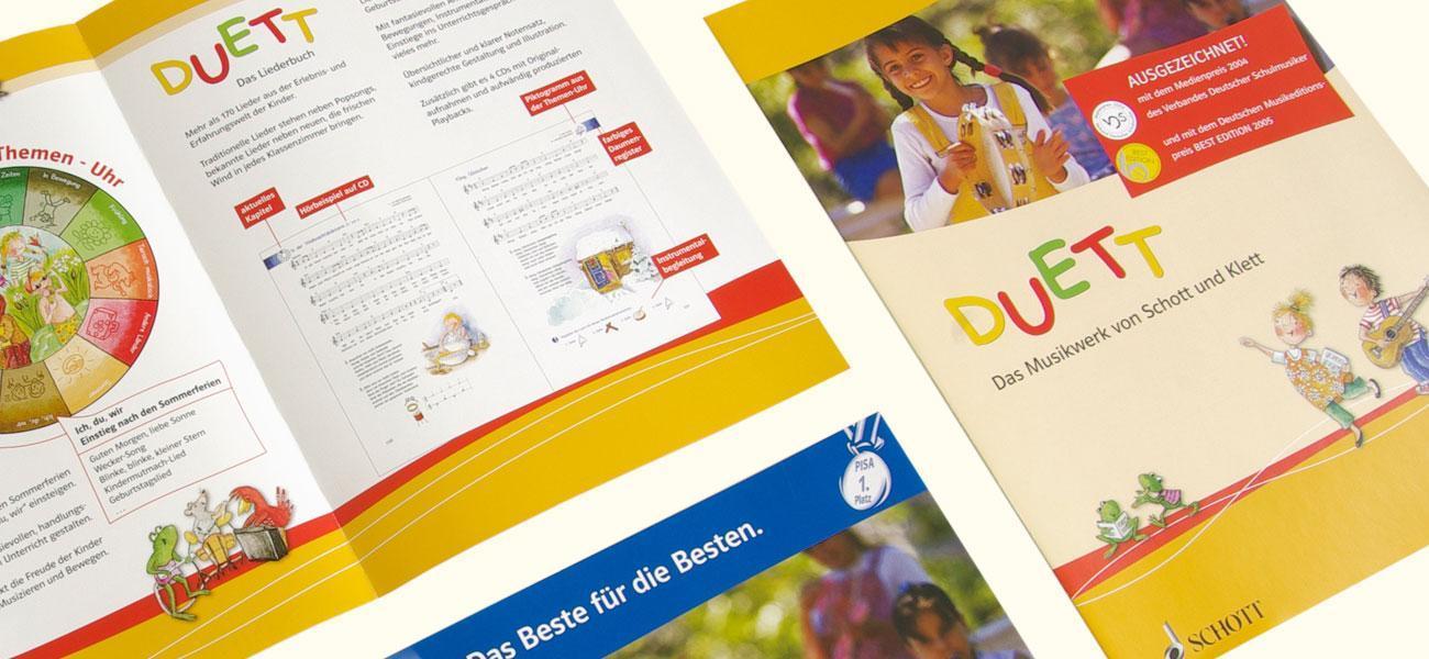 Blick in die Broschüre DUETT vom Klett Verlag