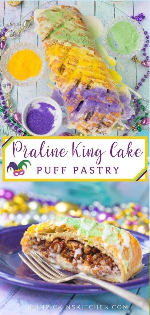 King Cake Puff Pastry Pinterest Image