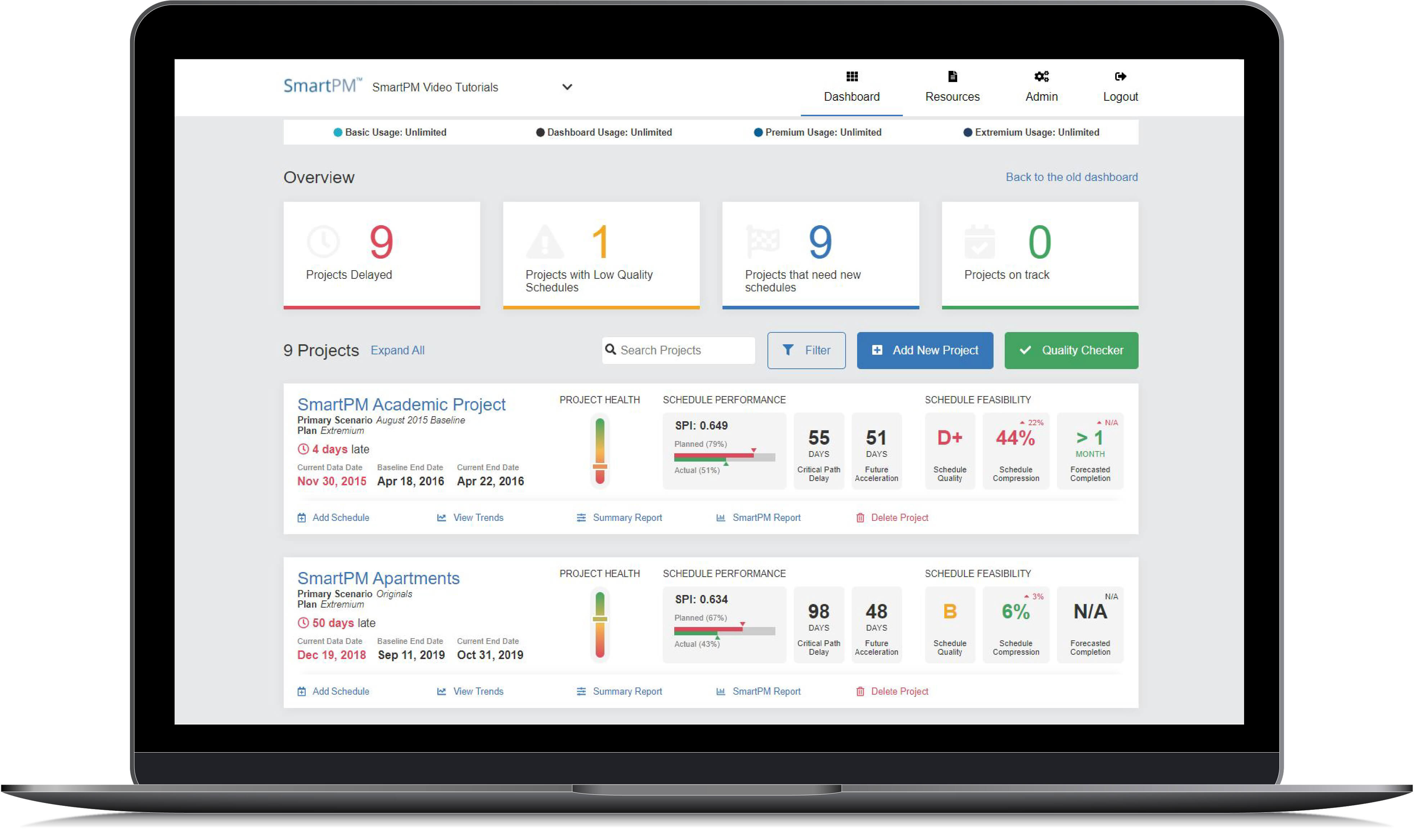 Project Controls Dashboard