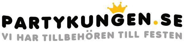 Logotyp för partykungen som tillverkar studentplakat