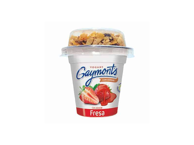 Yogurt de fresa con cereal