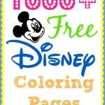 1000+ Free Disney Coloring Pages for kids. #DisneySide www.thefarmgirlgabs.com