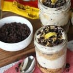 No-Bake Cannoli Cheesecake Jars are a modern spin on the classic Italian pastry. The cream cheese filling has just the right amount of cinnamon, a hint of lemon and plenty of NESTLÉ® TOLL HOUSE Mini Morsels.