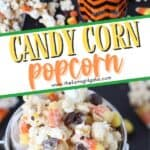 Scare up some Halloween fun with this Candy Corn Popcorn. It's the perfect Halloween Snack to enjoy during the fall season. This is an easy Halloween snack recipe. One of my favorite snacks during the Halloween season is this Candy Corn Popcorn. It loaded with lots of sweet candy corn, melted chocolate and chocolate candy. What's not to love?