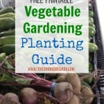 Get Your Garden Growing this summer with this Printable Vegetable Gardening Guide.