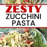 Turn that ordinary zucchini growing in your garden or from the farmers' market into this healthy and delicious Zesty Parmesan Zucchini Noodles. This easy zucchini pasta recipe is a perfect meatless meal option.