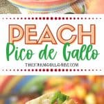 Spice up your summer with this tastyPeach Pico de Gallo recipe. Grab some fresh peaches and whip up a bowl of this fresh peach salsa.