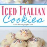 Italian Christmas Cookies are a delicious cake-like cookie with a hint of anise and sweet sugar glaze. This easy cookie recipe is great to serve any time of the year. #christmascookie #cookierecipe
