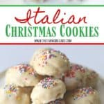 Italian Christmas Cookies are a delicious cake-like cookie with a hint of anise and sweet sugar glaze. This easy cookie recipe is great to serve any time of the year. #christmascookie #cookierecipe #italianchristmascookies #holidaybaking