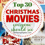 Tisthe season for movie night! Put your comfy pajamas on, pop some popcorn and put on one of these 30 Christmas movies everyone should see. #ChristmasMovies #MovieNight #ChristmasParty #movies #family