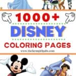 Need a fun activity for the kids? Grab some crayons and download some of these 1000 Free Disney Coloring Pages. This massive collection of free printable Disney Coloring pages has all your favorite Disney Characters! Keep them extra busy and download a bunch to make their own Disney Coloring Book. #DisneyColoringPages #DisneyCraft #DisneyTips #disneycraft
